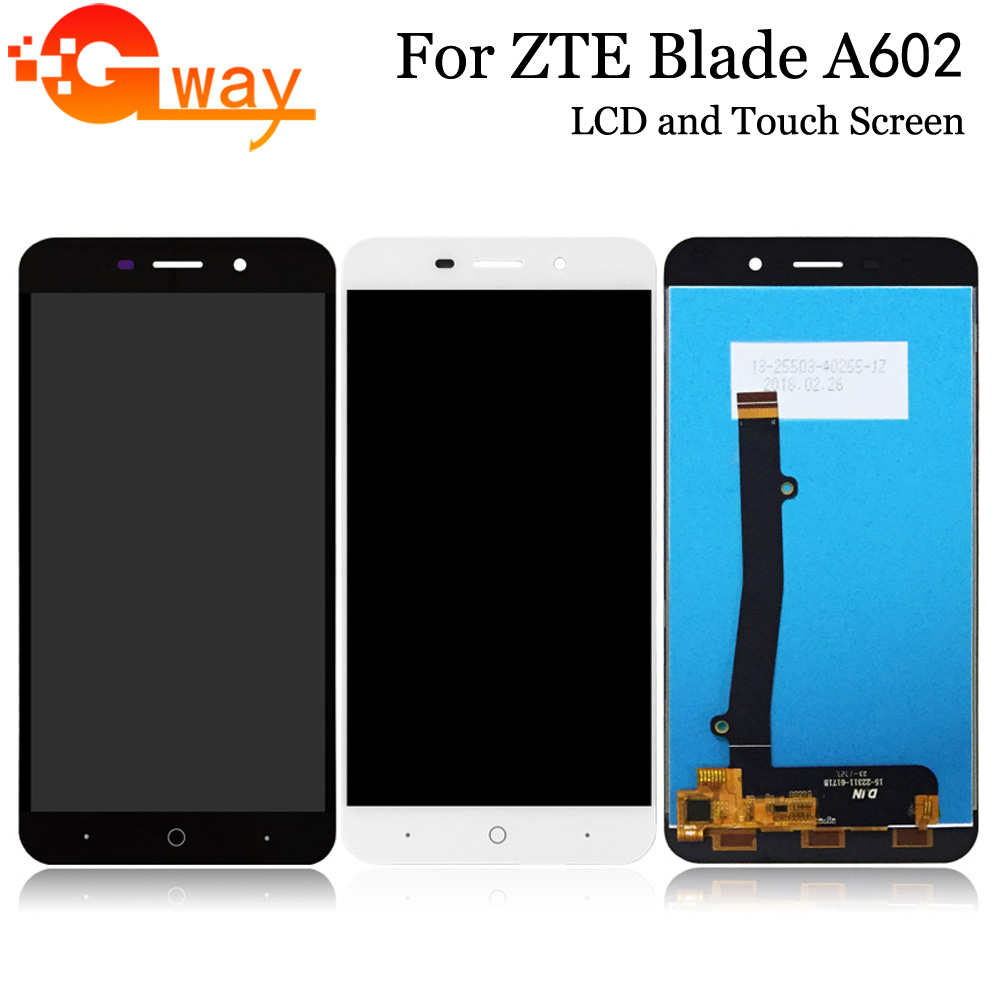 For <font><b>ZTE</b></font> <font><b>Blade</b></font> <font><b>A602</b></font> <font><b>LCD</b></font> <font><b>Display</b></font> and Touch Screen Good Screen Digitizer Assembly Replacement For <font><b>ZTE</b></font> Mobile Accessories image