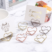 Clamps Stand Numbers-Holder Photos-Clips Desktop-Decor Place-Card Heart-Shape Fashion