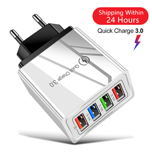 Зарядное устройство USB, быстрая зарядка 4,0, 3,0, а, адаптер питания для быстрой зарядки для Samsung iPhone 11, 7 X, 4 порта, зарядное устройство