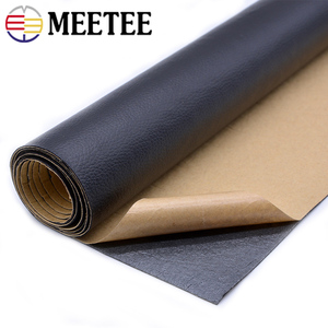 Image 1 - 50*138cm Faux Leather Fabric Solid Color Suede Synthetic Self adhesive Ecoskin Cloth Patching Simulation Leather Adhesive Patch