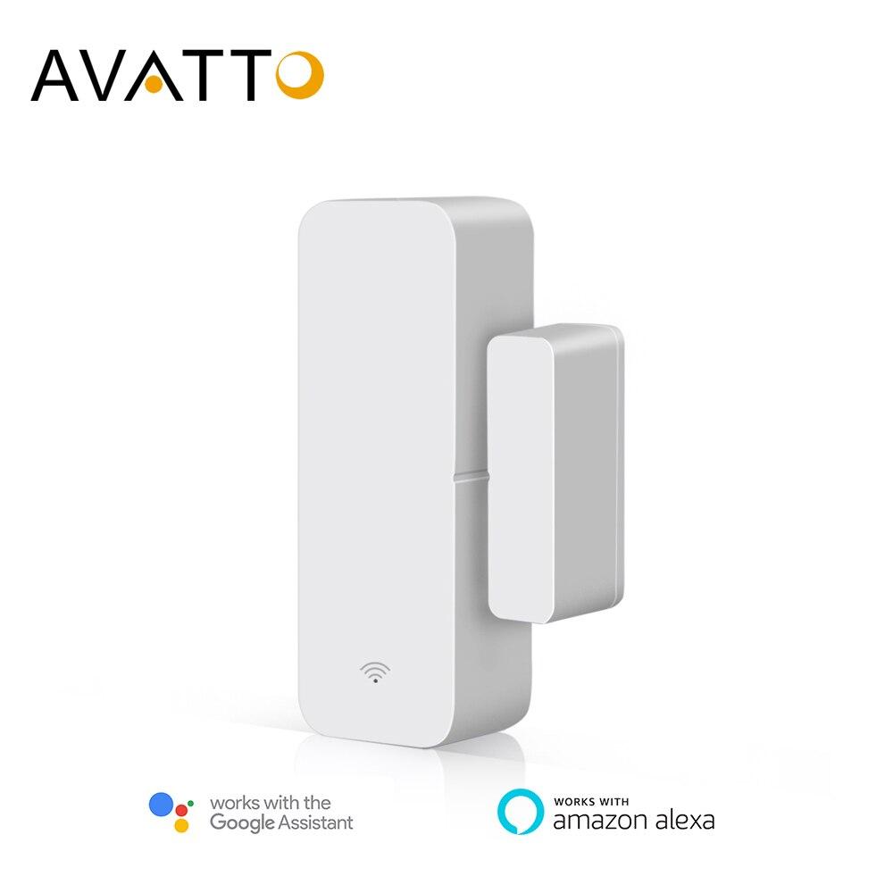 AVATTO Tuya Smart WiFi Door Sensor, Door Open / Closed Detectors  Smartlife APP Wifi Window Sensor Work With Alexa Google Home