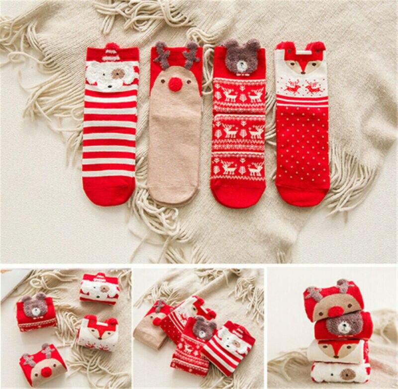 S Women Girl Christmas Socks Santa Claus Gift Kids Unisex Xmas Funny Socks NEW