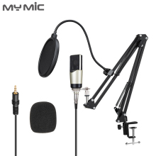 My Mic M4X Professional Condenser Large Diaphragm Computer Studio Microphone With Adjustable Arm Stand for Vocal Recording