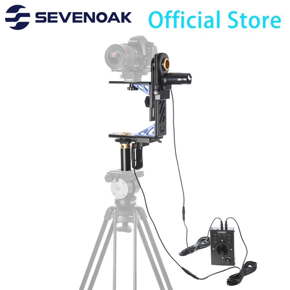 Sevenoak SK ECH04 Electronic Motorized Pan & Tilt Gimbal Head Kit System with 20ft Remote Control for Canon Nikon DSLR Camera|motorized pan|gimbal head|dslr panning - title=