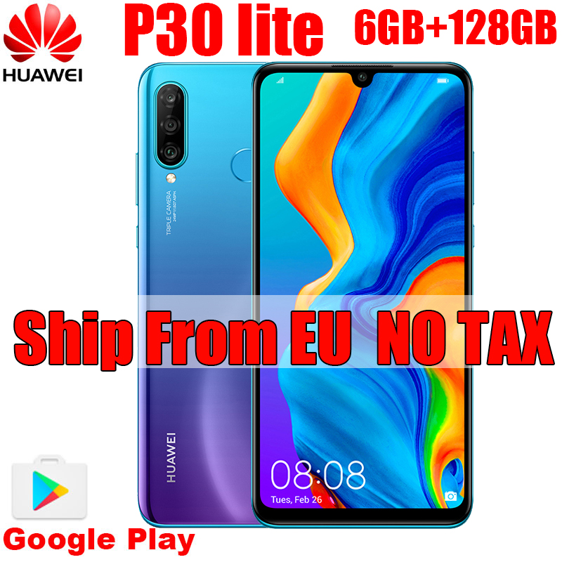 P30 Lite  6GB 128GB Global Version 6.15 Inch NFC With Google Play Mobile Phone OTA Update 3340mAh Android 9