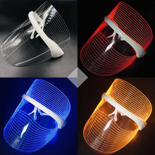 3 Colors LED Light Therapy Face Mask Anti-aging Beauty Device Facial Rejuvenation Whitening Tool Wrinkle Removal Skin Tighten