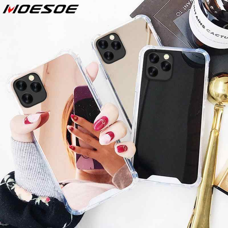 Shock-Proof Phone Case For iPhone 11 Pro XS XS MAX XR 6 S 7 8 Plus X Luxury Cosmetic mirror Girly Glass TPU PC Phone Cover Coque
