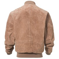 Autumn leather jacket men's winter hotter cotton pigskin luxury coat collar zipper coat loose
