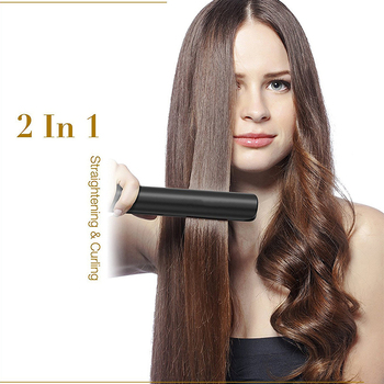 Professional Hair Straightener Flat Irons Hair Curler 2-in-1 Straightening Iron&Curling Iron Ceramic Heating Plate Styling Tools