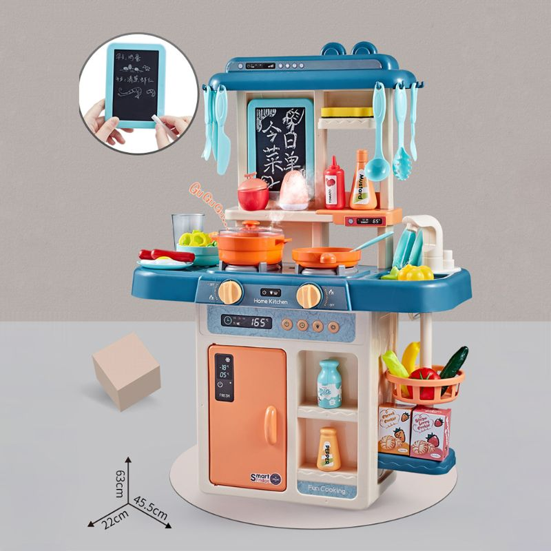 42Pcs/Set Simulation Kitchen Toy Spray Water Dinnerware Children's Toys Cooking Table Set K1KC