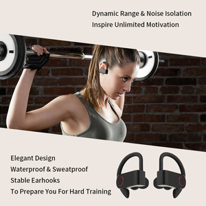 Image 2 - Wireless Sports Headphones TWS Bluetooth 5.0 Earphones Ear Hook Running Noise Cancelling Stereo Earbuds With MIC IPX4 Waterproof