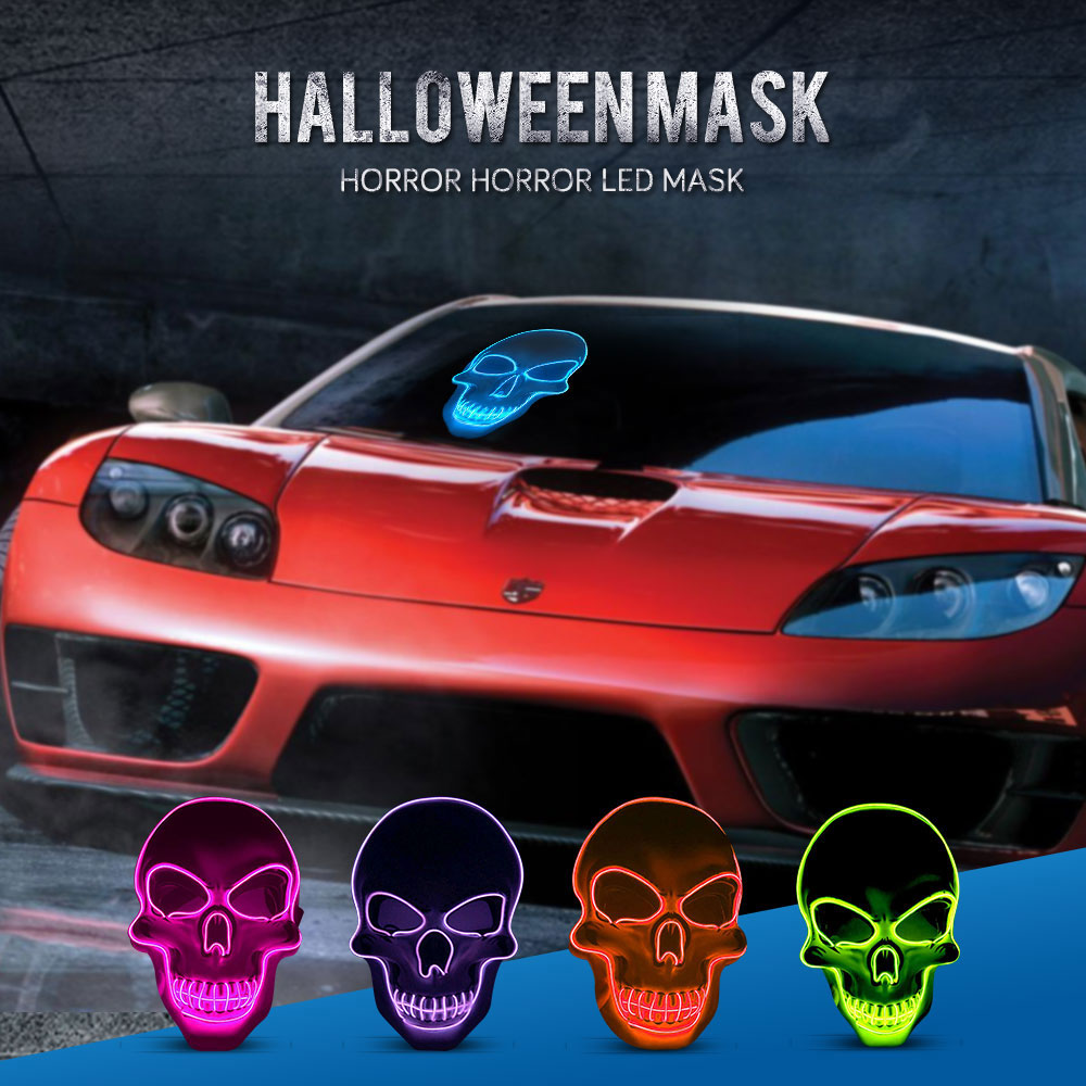 Illuminated Glowing LED Halloween Mask 3