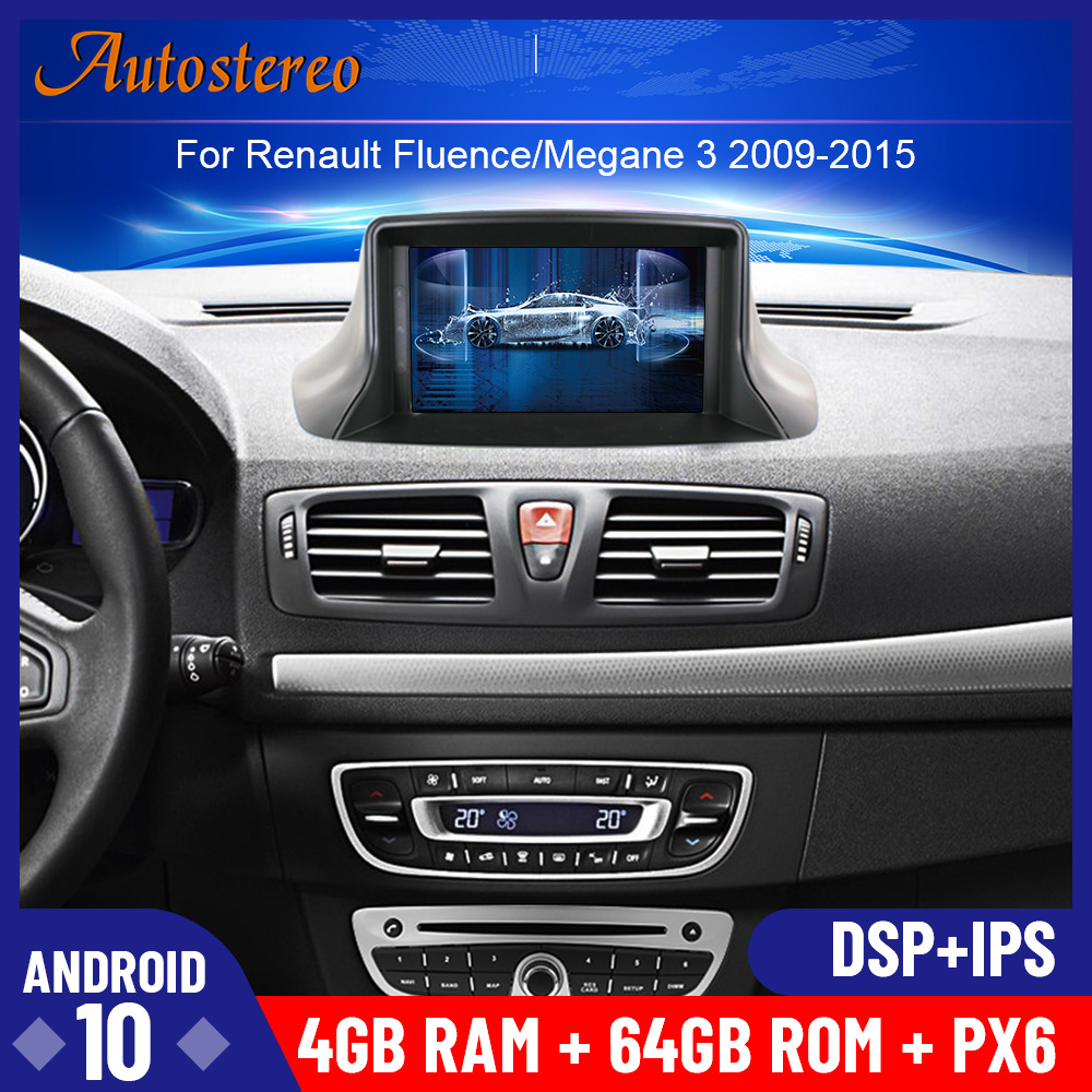 Android 10 PX6 DSP Car DVD Player For Renault <font><b>Megane</b></font> <font><b>3</b></font>/Renault Fluence 2009+ Stereo Headunit <font><b>GPS</b></font> Navigation Radio Tape Recorder image