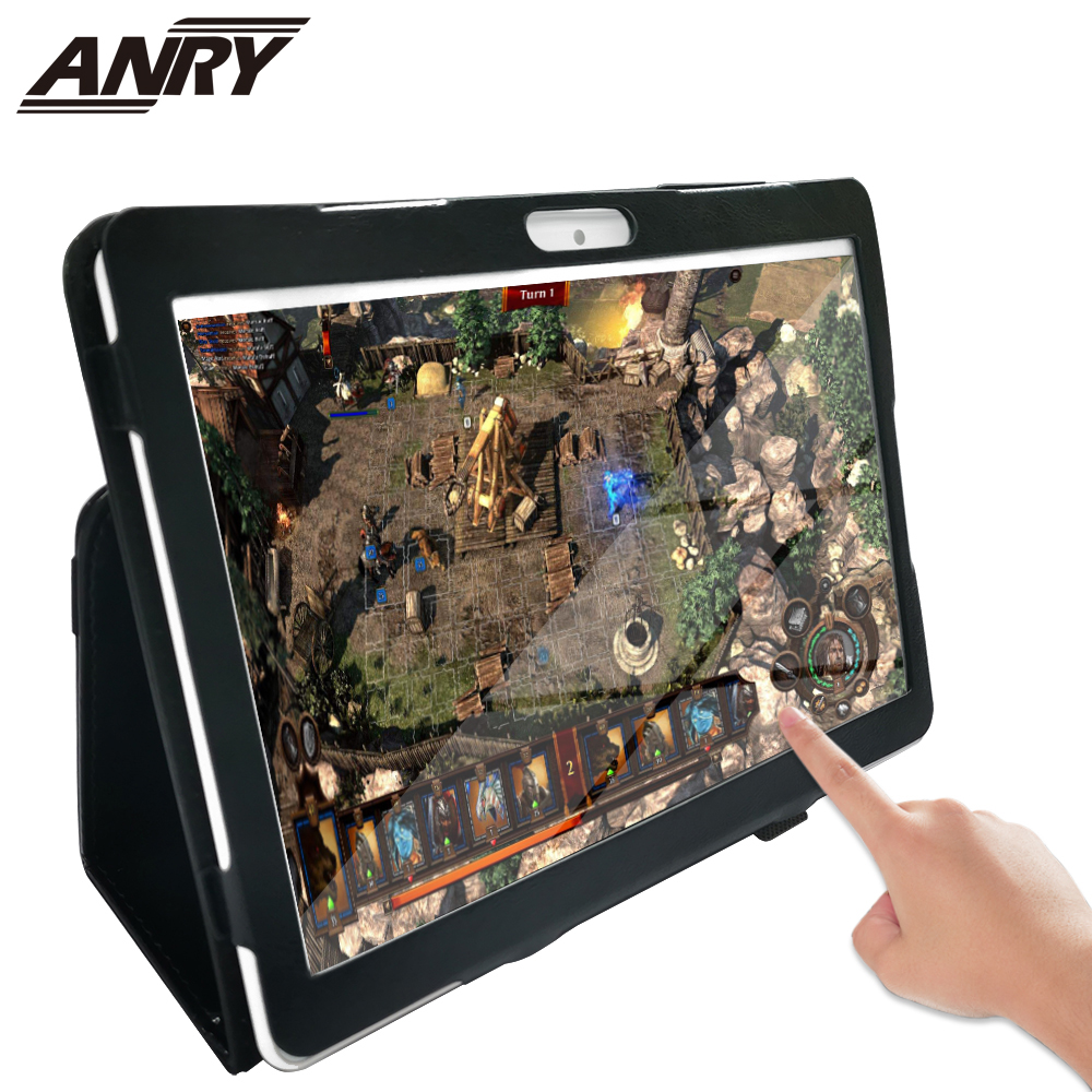 ANRY Tablet 10.1 Inch Dual SIM Card Phablet Android 7.0 4G Phone Call 4 GB RAM 64GB ROM Wifi GPS Bluetooth Touch Tablet