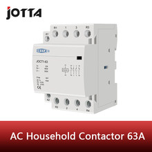 Contattore ca per uso domestico su guida din 4P 63A 220V/230V 50/60HZ 1NO 3NC/2NO 2NC/3NO 1NC/4NO/4NC