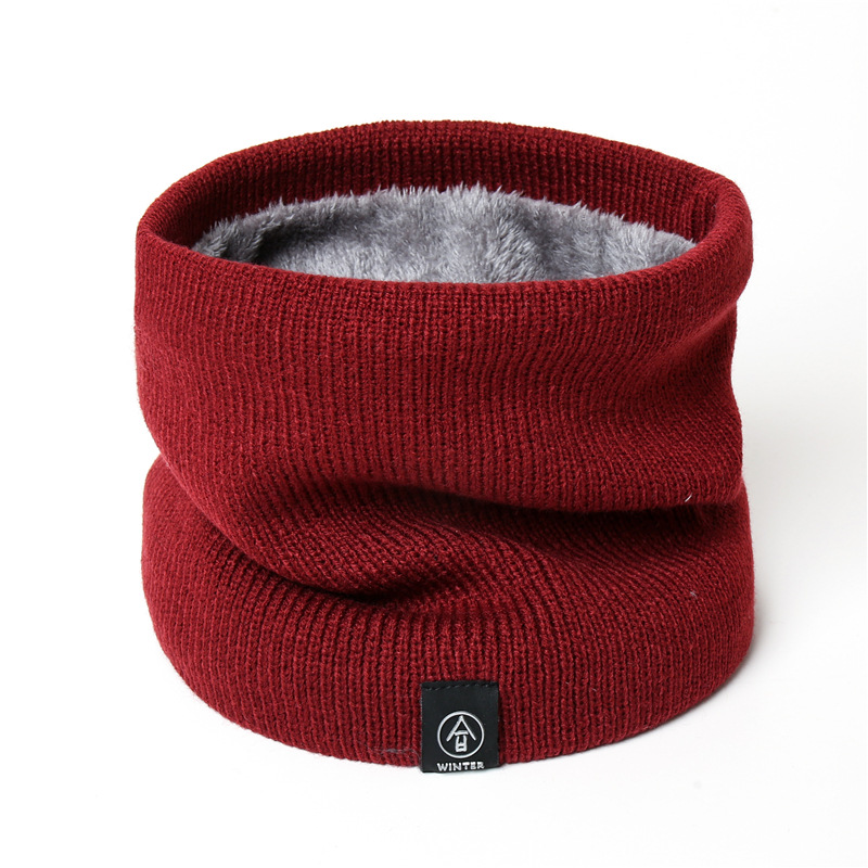 Scarves Rings Neck-Scarf Muffler Collar Knitting Warm Thick Winter Women Velveted Solid