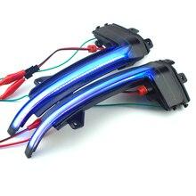 لأودي A4 A5 S5 B8.5 B8 RS5 RS4 S6 S4 مؤشر ديناميكية الوامض بدء التشغيل التنفس ضوء 2 قطعة الجانب الجناح مرآة رائعة المؤشر