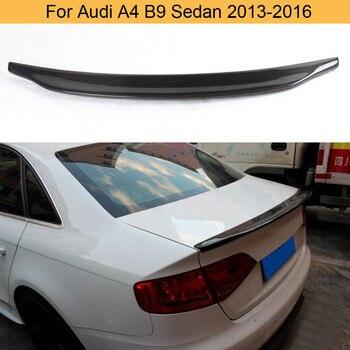 Car Rear Trunk Wing Spoiler for Audi A4 B9 Sedan 2013-2016 Rear Trunk Spoiler Wing Boot Lip Spoiler Carbon Fiber
