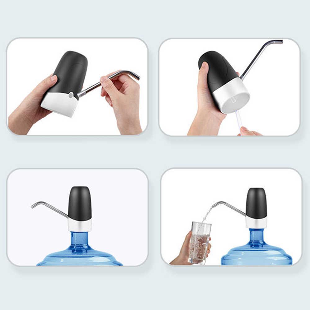 Rumah Tangga Air Otomatis Dispenser Air Minum Kemasan Manual Air Press Portable Smart Nirkabel Galon Botol Minum Switch USB
