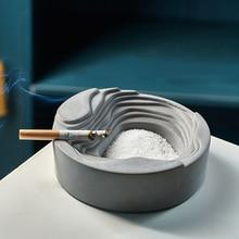 Цементная пепельница индивидуальное украшение для дома, аксессуары для гостиной, кафе, бара, креативная кухонная пепельница, Декор
