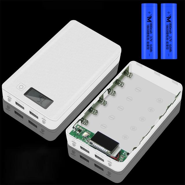 (ไม่มีแบตเตอรี่) 6x18650 DIYแบตเตอรี่แบบพกพาเปลือกแบตเตอรี่กล่องDIY KIT Digital LCD Display Powerbank 18650 กรณีProtector