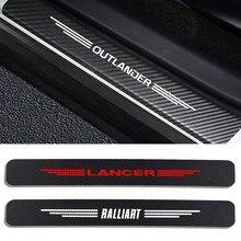 4 шт./компл. двери автомобиля порог крышка наклейки для Защитные чехлы для сидений, сшитые специально для Mitsubishi Lancer 10 3 9 EX Outlander 3 ASX L200 Ralliart для ...