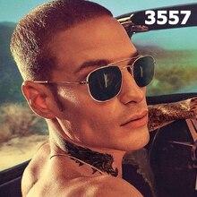 DPZ Fashion Vintage rays Square Metal Aviation 3557 Style Sunglasses