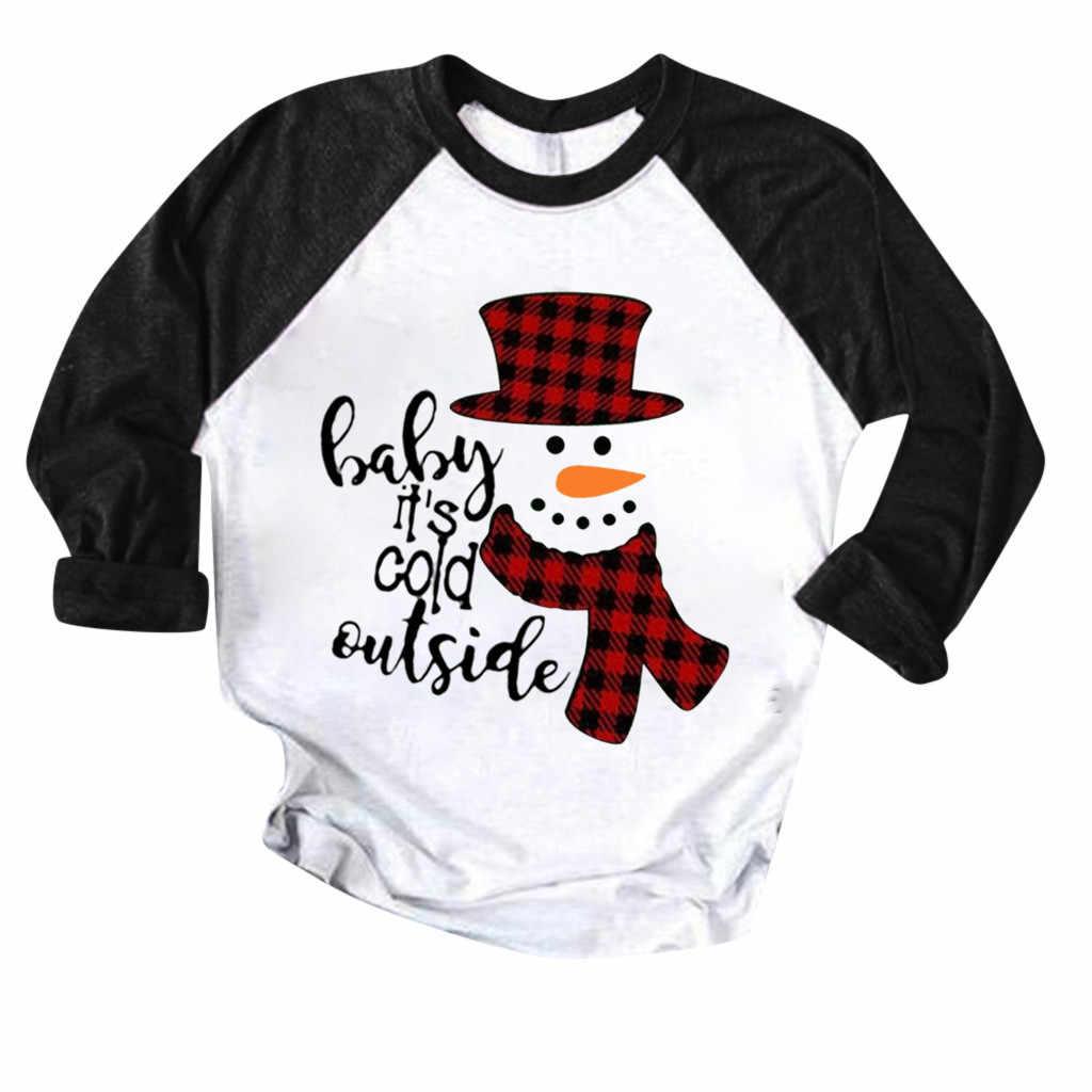 Vintage camisas mujer 2020 boże narodzenie t koszula kobiety kolorowy patchwork koszule z nadrukiem bluza z kapturem koszulki ropa mujer poleras