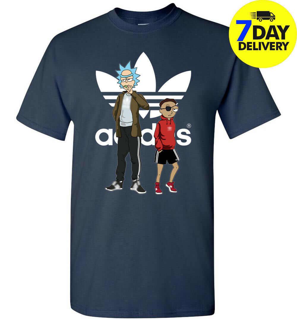 Футболка Rick And Morty для мужчин s ADDIDAS Мужская и женская модная футболка унисекс бесплатная доставка
