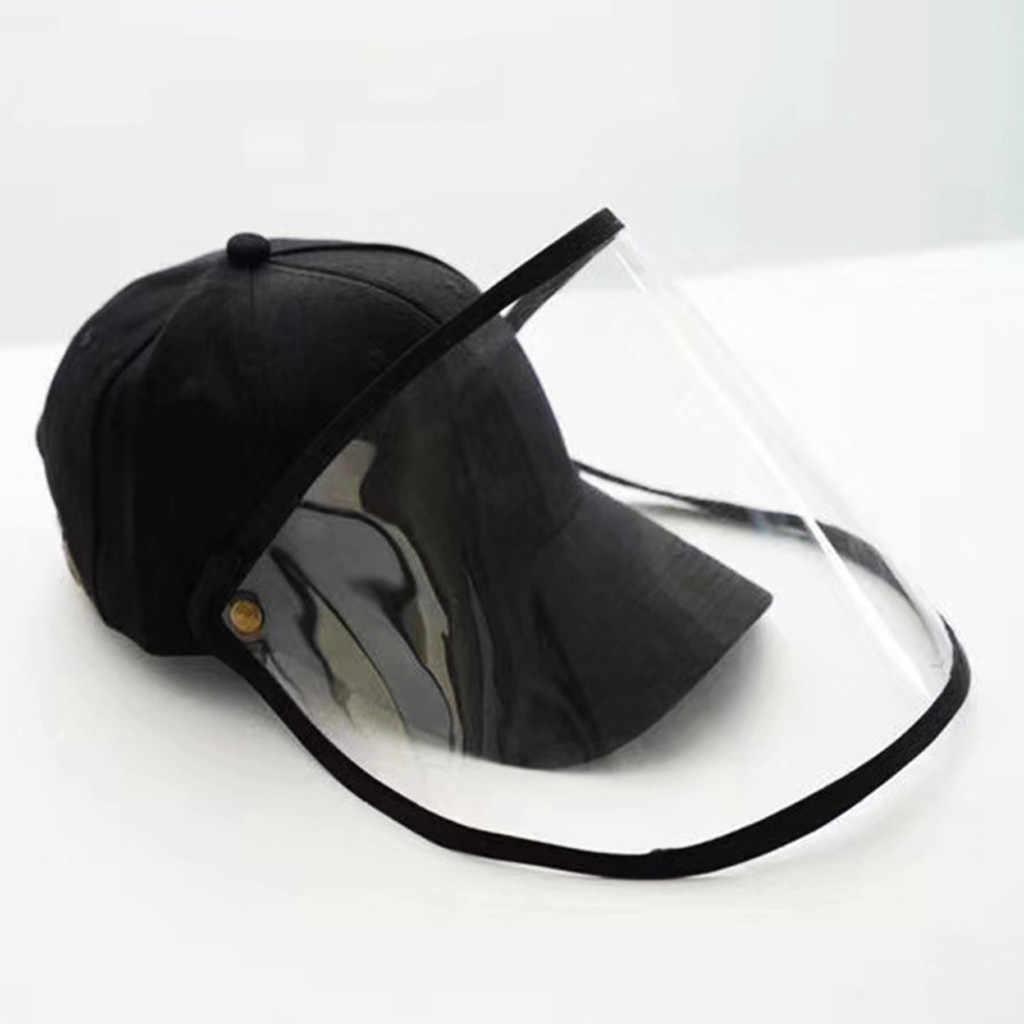 NINGNETI Sombrero Gorra Protector con Facial Visera Sombrero Protector Anti-saliva Cubierta A Prueba De Polvo Ni/ños Ni/ñAs Sombrero De Pescador Sombrero NS-0414A15