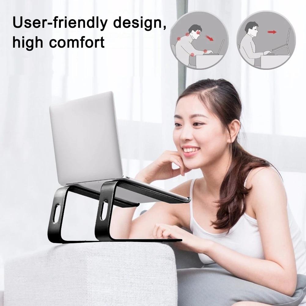Алюминиевый сплав Настольный держатель для ноутбука тепловыделение противоскользящая компьютерная подставка PUO88