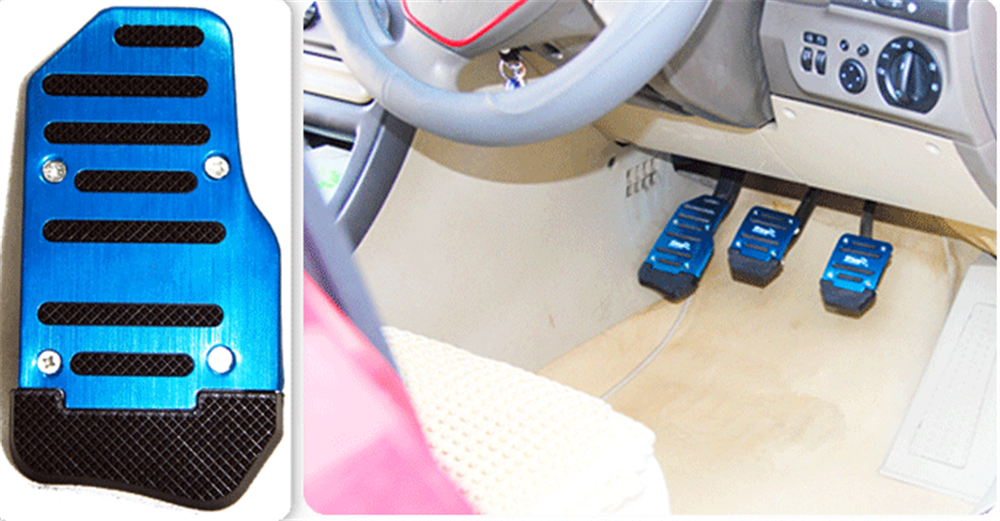Universal aluminum alloy manual transmission anti-skid car pedal set for Ford SVT Reflex Freestar F150 Crown BF 4-Trac