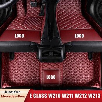 Car Floor Mats for Mercedes-Benz E Class Klasse Clase Classe E W210 W211 W212 W213 Convertible W207 Coupe Sedan Estate Custom