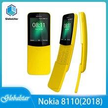 Nokia 8110 (2018 4G) usato 70% nuovo originale NOKIA 8110 (2018) cellulare sbloccato cellulare 4G di alta qualità
