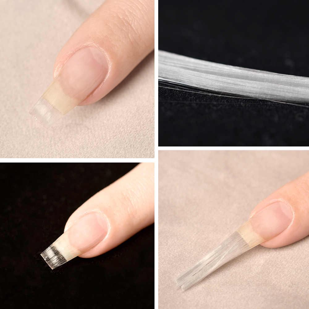 AriesLibra Fiber cam tırnak uzatma UV jel yapı tırnak formu Fibernails cam akrilik tırnak uzatma İpuçları manikür araçları