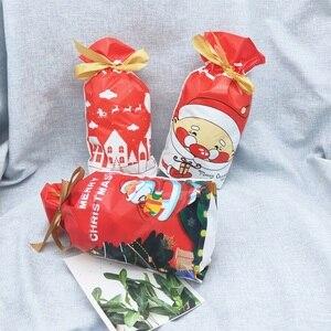 Image 3 - 5/10 個クリスマスキャンディークッキーパックバッグ新年ギフトバッグクリスマスサンタクロースギフトビスケットビニール袋パーティーの装飾のため