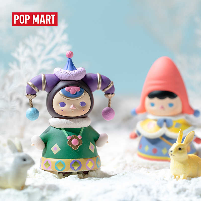 Pop Mart Pucky Winter Baby Blind Doos Pop Binary Action Figure Verjaardagscadeau Kid Speelgoed Action Figure Verjaardagscadeau Kind speelgoed