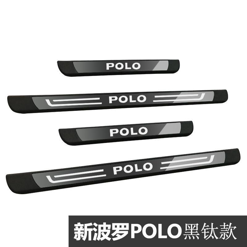 Высококачественная нержавеющая сталь порога приветствуется автомобиль педали Средства для укладки волос 4 шт./компл. для Защитные чехлы для сидений, сшитые специально для Volkswagen Polo 2010 - Цвет: 1