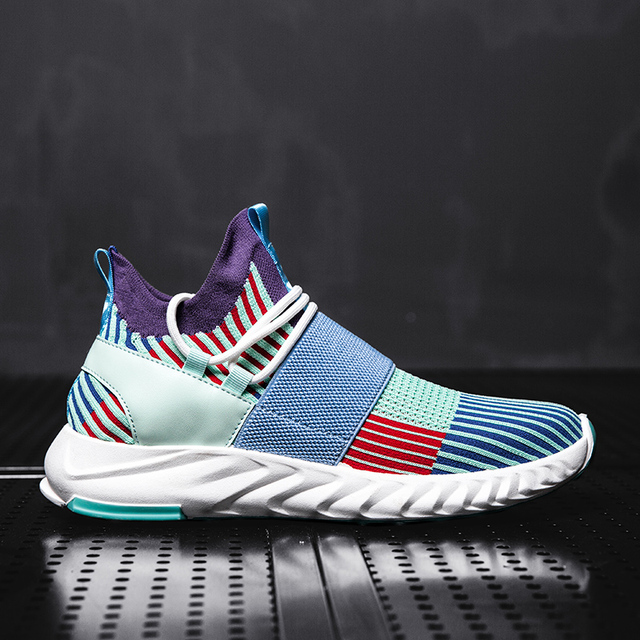 Men Sneakers Breathable Running Shoes Mixed Color Blade Sneakers Damping Walking Jogging Sports Shoes Athletic Training Sneakers