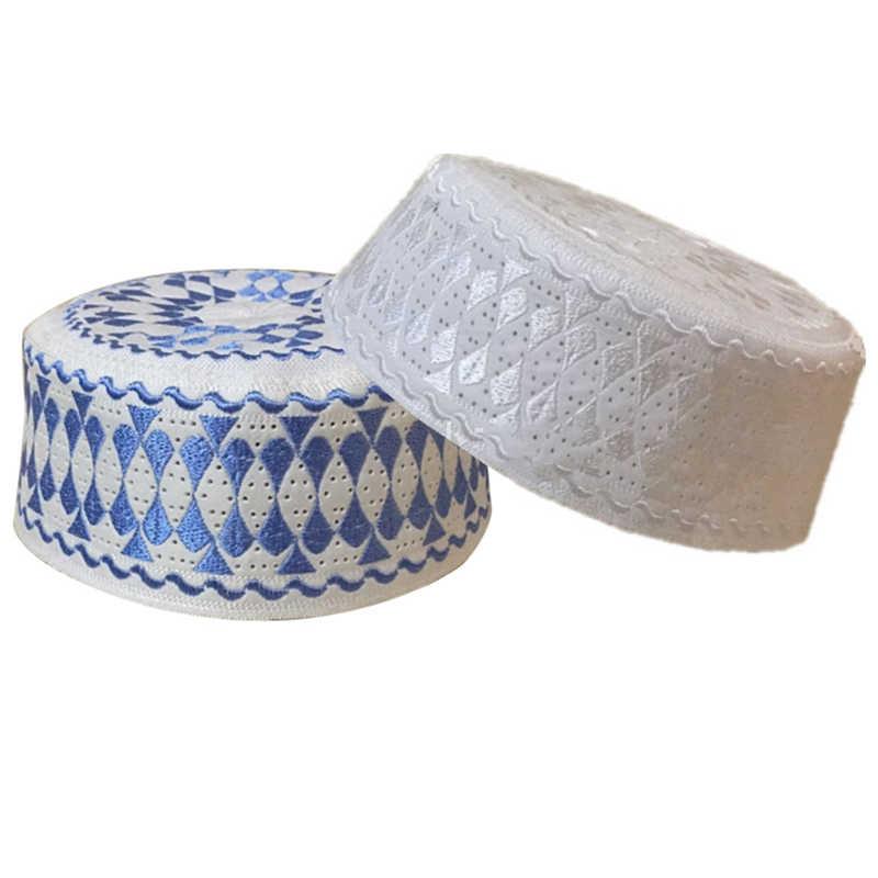 Chapéu de oração islâmica muçulmano unisex masculino adultos algodão tricô chapéus sólidos casual masculino lazer moda masculino crânio boné