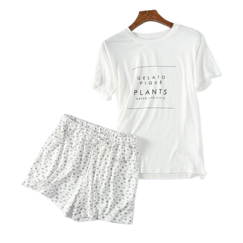Пижамный комплект GP с круглым вырезом, весна-лето, модальные шорты с коротким рукавом, лакированные шорты Пике без рукавов в стиле JP, 2021