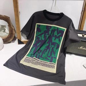 Camiseta casual de algodón de alta calidad con letras de perro de CAMIA 100% nueva camiseta de verano para mujer