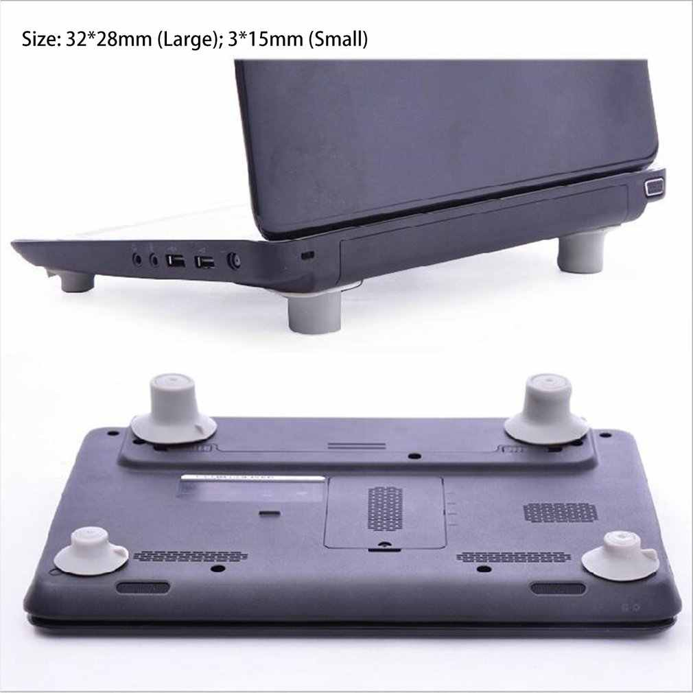 4Pcs Skidproof Notebook Antiskid Cooling Laptop Ball Cool Feet Leg Stand Pad