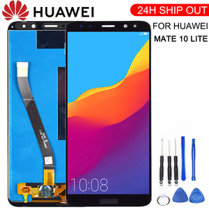 New For Huawei Mate 10 Lite LCD Display+Touch Screen Digitizer Screen Glass Panel Assembly+frame Replacement for Mate 10 Lite(China)