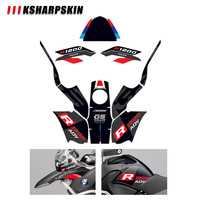 Body decoration protection sticker KSHARPSKIN motorcycle reflective decal for BMW R1200GS R1200 GS ADV 2008 2012
