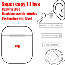 Super copy in-ear detection wireless Bluetooth headset 1:1 copy pop-up charging headset three real power display PK i60 i80 i200(China)