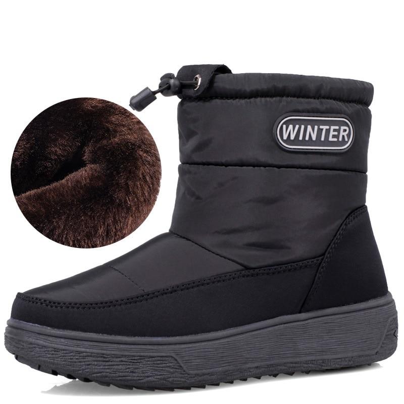 New Women Boots Waterproof Snow Boots Female Plush Winter Boots Women Warm Ankle Botas Mujer Winter Shoes Woman Footwear 36-40