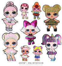 Dessin animé Lol vêtements Patch planète choses fer sur patchs pour vêtements broderie rayure sur vêtements mignon bricolage Sequin Applique Badge(China)