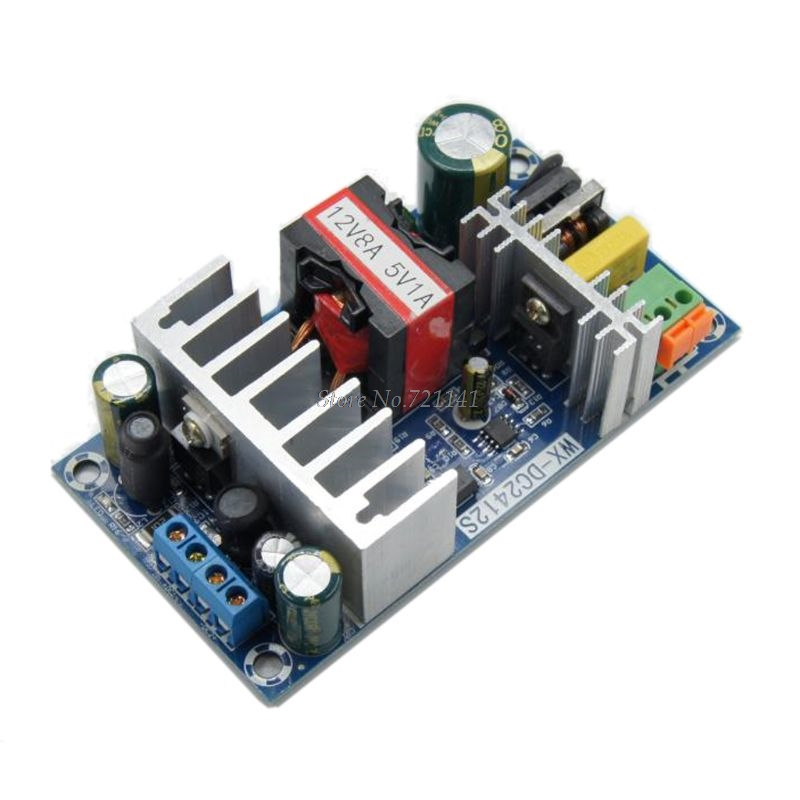 Dual Output AC Converter 110v 220v To DC 12V 8A 5V 1A 100W Switching Power Supply Board Power Source Module Whosale&Dropship