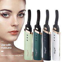 USB Rechargeable Portable Eyelash Curler Pen Heated Electric Makeup Eye Lashes Comb Long Lasting Eye Lash Curling Lifting Device